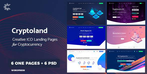 Cryptoland - WordPress Cryptocurrency Landing Page Theme        TFx Kiaran Todd