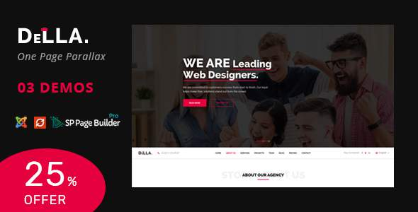 Della – One Page Joomla Template for Digital Agency        TFx Jules Timmy