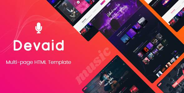 Devaid - Music Band and Musician Template        TFx Rokurou Archie