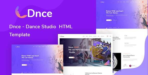 Dnce - Dance Studio Creative HTML Template        TFx Nobuyuki Minoru