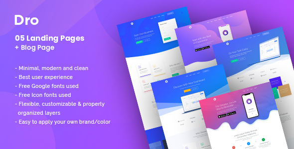 Dro - Software, App, Saas & Product Showcase Landing Page        TFx Constant Shelton