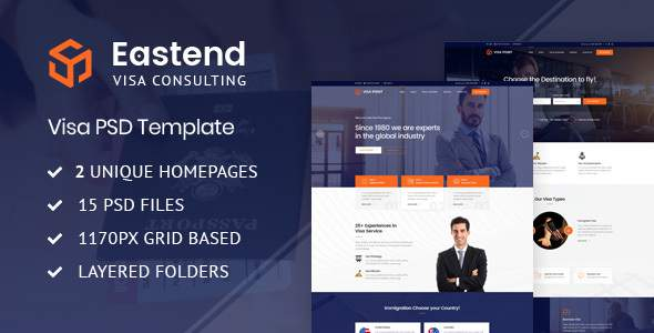 Eastend – Visa Immigration Consulting PSD Template        TFx Allyn Rodge