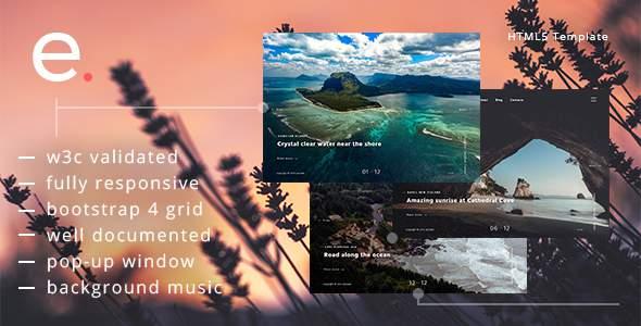 Episoda - Photography Portfolio & Blog HTML Template        TFx Pat Murray