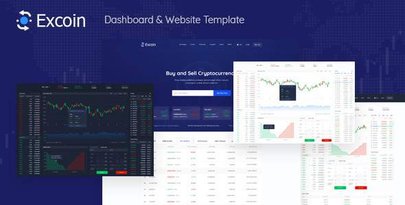 Excoin - Crypto Currency Trading Dashboard PSD Template        TFx Sequoyah Brantley