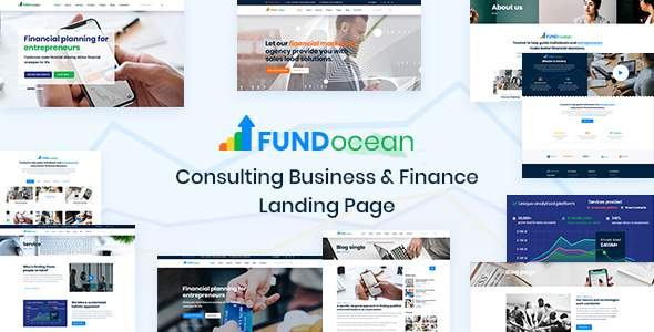 Fundocean - Consulting Business & Finance Landing Page        TFx Herbie Jere