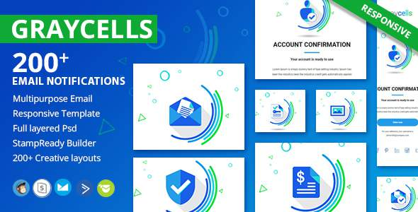Graycells - 200+ Responsive Email Notification Template        TFx Willie Geoff