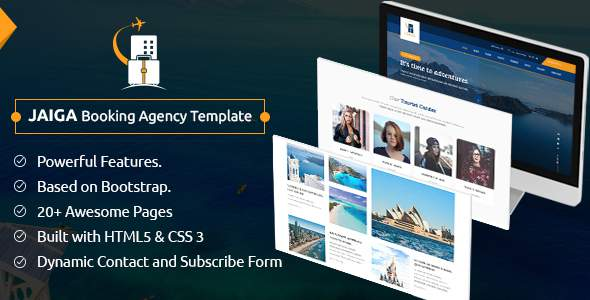 Jaiga - Tour and Travel Booking Agency Template        TFx Arnie Waylon