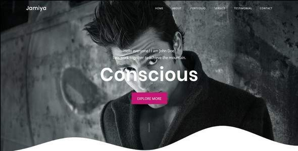 Jamiya-One Page Portfolio Template        TFx Royal Alden