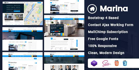 Marina - Real Estate HTML Template        TFx Orson Rowland