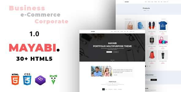 Mayabi – Multipurpose Portfolio/Business HTML5 Template        TFx Ken Xerxes