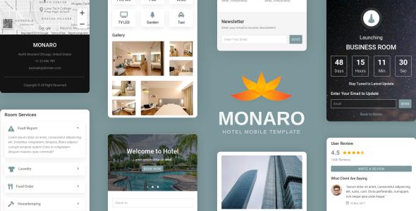 Monaro - Hotel Mobile Template        TFx Jameson Cash