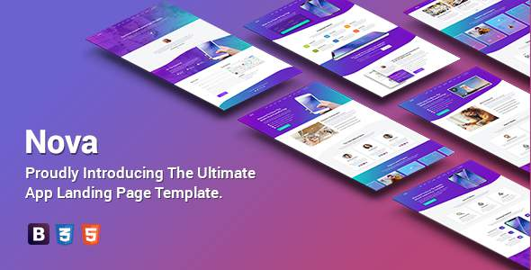 Nova – Premium App Landing Page Template        TFx Nickolas Damon