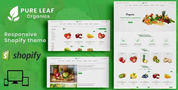 Pure Leaf Shopify MultiPurpose Responsive Theme        TFx Esmond Jarod