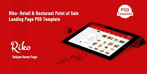 Riko- Retail & Resturant Point of Sale Landing Page PSD Template        TFx Naoki Tristram