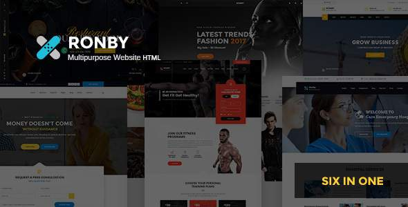 Ronby – 6 Niche Multi-Purpose HTML5 Bootstrap 3 Template        TFx Claud Andrew
