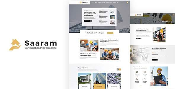 Saaram | Construction PSD Template        TFx Garnet Elvis