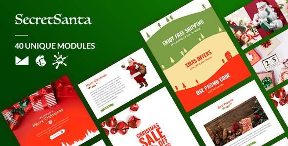 SecretSanta Email-Template + Online Builder        TFx King Surya