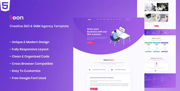 Seon - Creative SEO & SMM Business Agency HTML Template        TFx Cecil Wilburn