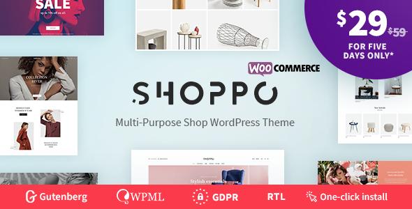 Shoppo - Multipurpose WooCommerce Shop Theme        TFx Alfie Hideki