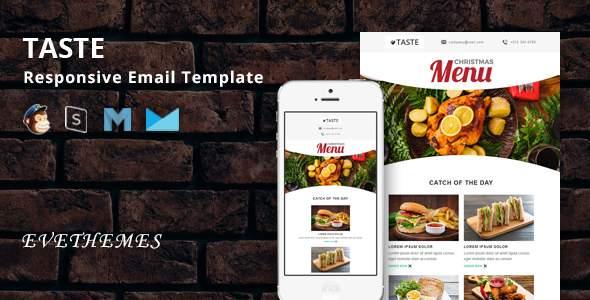 Taste - Restaurant Responsive Email Template        TFx Ryder Ormonde