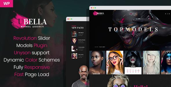 UBella - Model Agency WordPress Theme        TFx Rodolph Daley