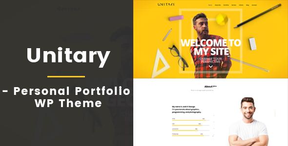 Unitary - Creative Personal Portfolio WP Theme        TFx Francis Huey