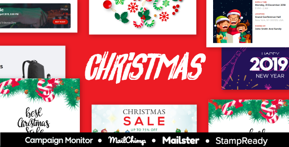 XMAS - Christmas & New Year Sale Multipurpose Responsive Email Template With StampReady Builder        TFx Oswin Jerold