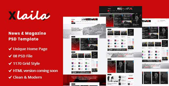 Xlaila – Magazine & Newspaper PSD Template        TFx Chesley Merlyn