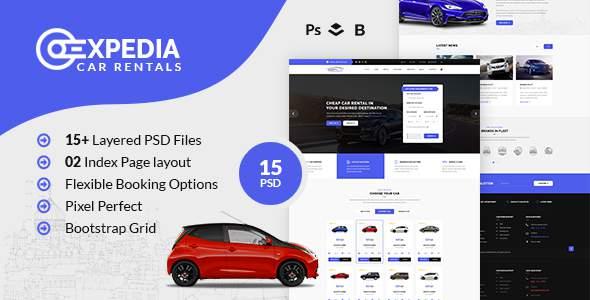 Xpedia- Car Rental PSD Template        TFx Easton Lynton