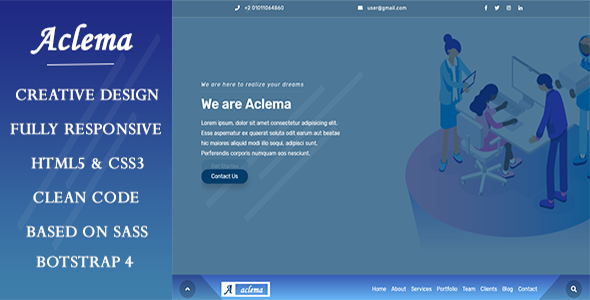 Aclema- Agency HTML Template        TFx Laurence Josephus