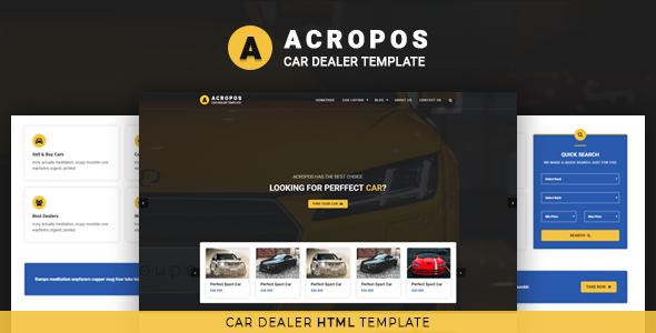 Acropos - Car Dealer HTML Template        TFx Newt Tate