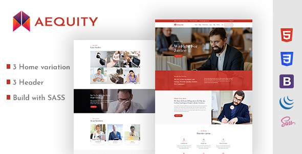 Aequity  – Law HTML5 Template        TFx Tyrell Saburou