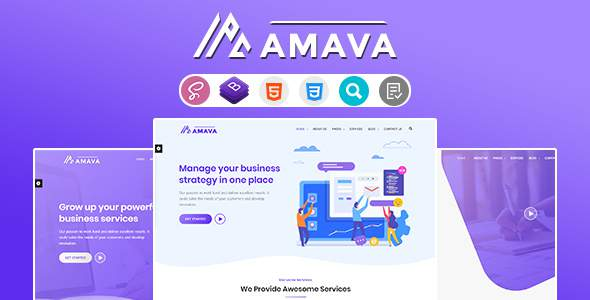 Amava - Startup Agency and SasS Business Template        TFx London Karson