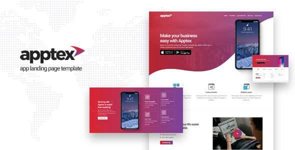 Apptex | App Landing Page Template        TFx Gaz Elvin