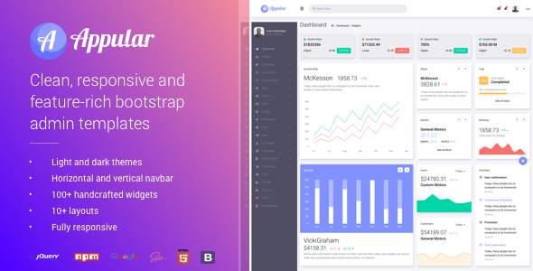 Appular - Bootstrap Admin Dashboard Template        TFx Daniel Kenith