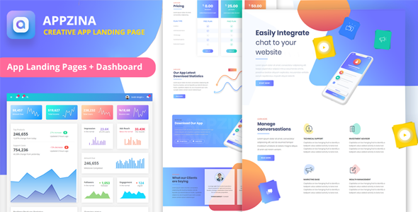 Appzina - App Landing Page & App Showcase + Dashboard        TFx Julian Alton