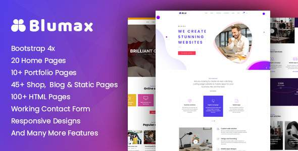 Blumax – Multi-Purpose Responsive Website Templates        TFx Lindy Yori