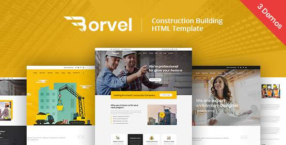 Borvel - Construction Building Company HTML Template        TFx Bryson Kaiden