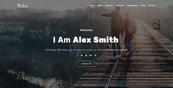 Buka - One Page Portfolio Joomla Template        TFx Zander Trevor