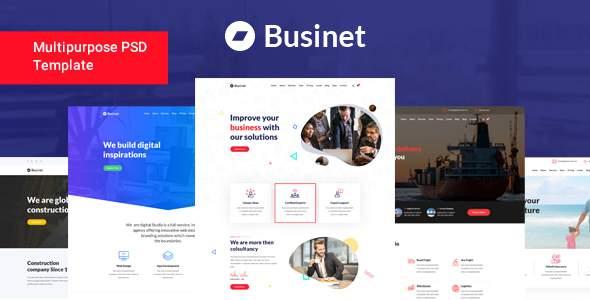 Businet - Multipurpose Business PSD Template        TFx Lenard Narek