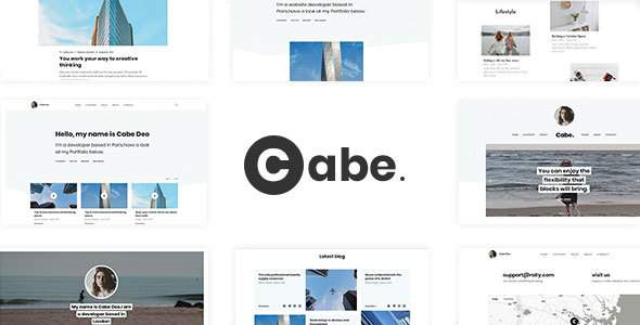Cabe - Minimal and Clean Personal Blog Template        TFx Raja Upton