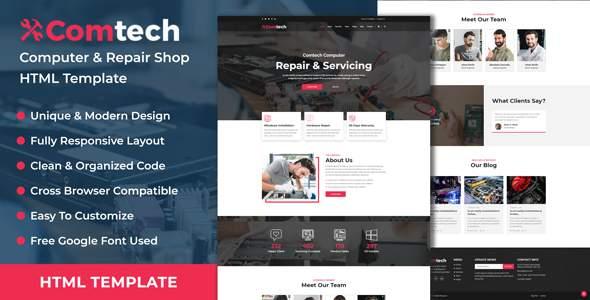ComTech - Computer & Repair Shop Business HTML Template        TFx Bryce Kristopher