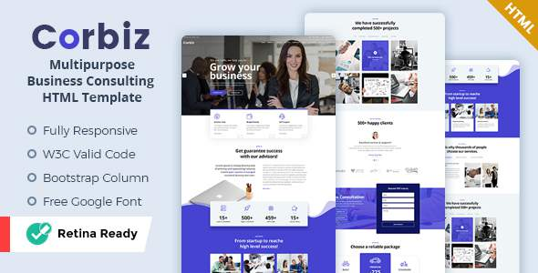 Corbiz – Multipurpose Business Consulting HTML Template        TFx Aleksandr Randolf