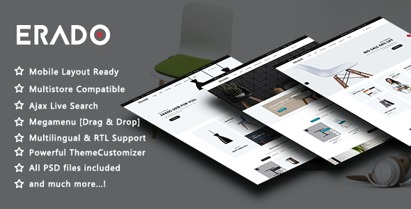 Erado – Elegant Furniture Responsive PrestaShop 1.7 Theme        TFx Major Graham