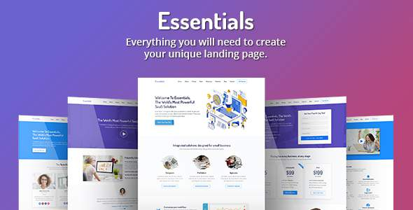Essentials – High Converting SaaS Landing Page Template        TFx Tate Elijah
