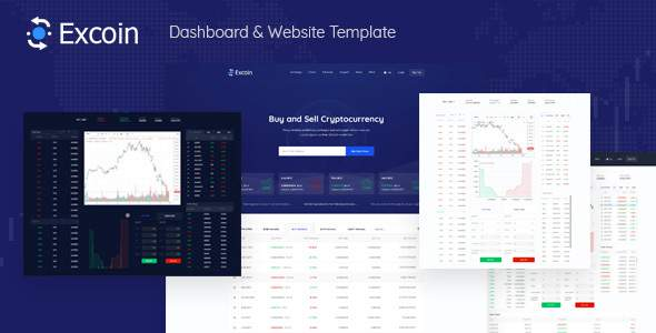 Excoin - Cryptocurrency Trading Dashboard Template        TFx Titus Ujarak