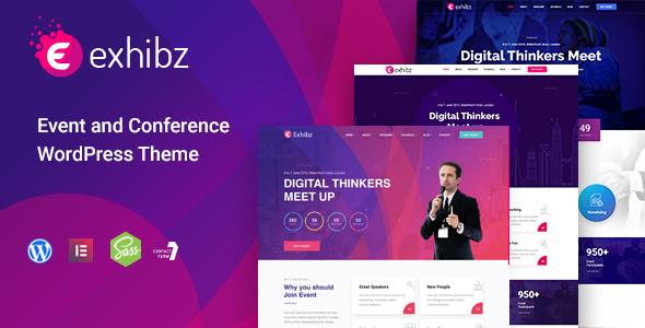 Exhibz - Conference Event WordPress Theme        TFx Delano Catahecassa