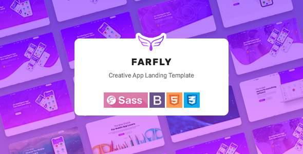 Farfly - Creative App & SAAS Landing HTML5 Template        TFx Curt Danny
