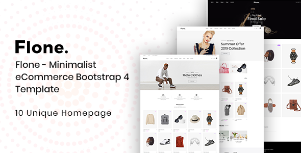 Flone - Minimalist eCommerce Bootstrap 4 Template        TFx Tyler Brand