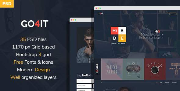 GO4IT – Digital Entrepreneur PSD Template        TFx Montague Deacon
